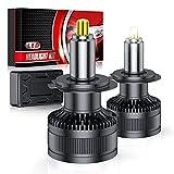 Ampoule H7 LED, 2PCS 6 Faces 360° CHIP Auto Lampe Led, 10000LM Phares de Voiture, 6000K Blanc 12V 60W IP68 Imperméable Remplace Lampes Halogènes et Xénon pour Feux de Croisement, Feux de Route
