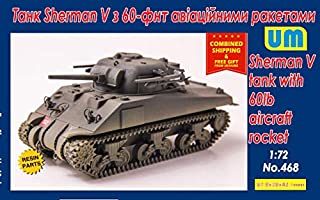 UniModel (UM) Plastic Model kit Sherman V Tank with 60lb Aircraft Rocket 1/72 468