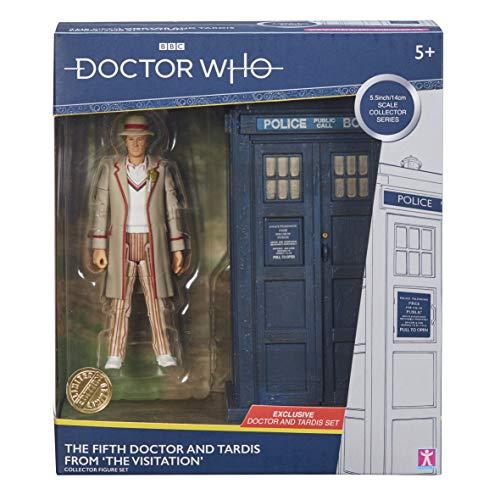 Doctor Who 5. Dr. und Tardis Set – Klassische Dr Who Actionfigur und Tardis Set – Doctor Who Merchandise – Charakteroptionen – 14 cm
