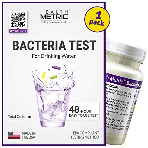 Product Image of the Coliform Bacteria Test Kit for Drinking Water - Easy to Use 48-Hour Water Quality Testing Kit for Home Tap & Well Water | EPA Approved Testing Method | Made in The USA | Incl. E Coli | 1-Pack
