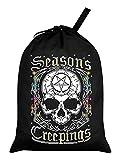 Grindstore Seasons Creepings - Saco de Papá Noel, color negro, 46 x 60 cm