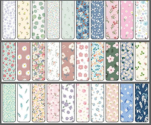 Valporia 30 Pcs Magnetic Bookmarks for Book Lovers/Women/Kids/Girls Gifts for 10 Year Old Girl (Multicolor Flower)
