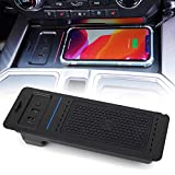 CUJI Car Wireless Charger for Ford F150 2015-2020 Faster Wireless Charging Devices with USB Port 36W Compatible with iPhone Samsung, Output of 15W QC 3.0