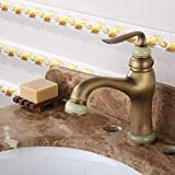 BXU-BG antiguo chapado en oro Cisne grifo cobre caliente y fría lavabo grifo oro encima del contador lavabo grifo europeo ahorro de agua fácil instalar grifo durable