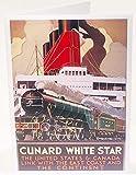 Colcards - Biglietto di auguri di compleanno con locomotiva a vapore, interno vuoto, 17,8 x 12,7 cm