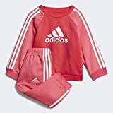adidas Logo Fleece Trainingsanzug Mädchen 98, Rosa / weiß