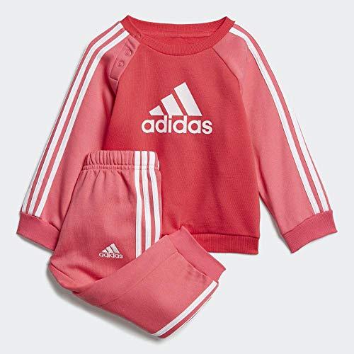adidas Logo Fleece Trainingsanzug Mädchen 104, Rosa / weiß