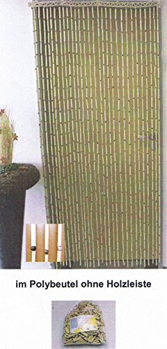 Kottig Bambus Türvorhang Insektenschutz Raumteiler Dekovorhang UNI 90x190cm