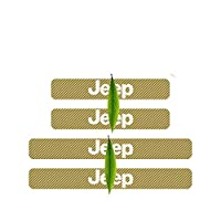 NUIOsdz ドアシルスカッフカードアプレートステッカー4本カーボンファイバープロテクターステッカー、JEEPアクセサリー用レネゲードラングラーチェロキー