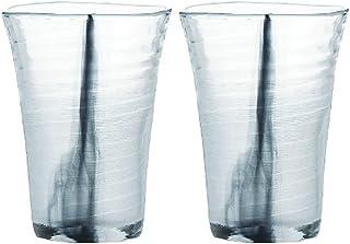 東洋佐々木ガラス ビヤーグラス ブラック 350ml 泡立ちぐらす 山 墨流し 日本製 食洗機対応  P-52013-F/S-302
