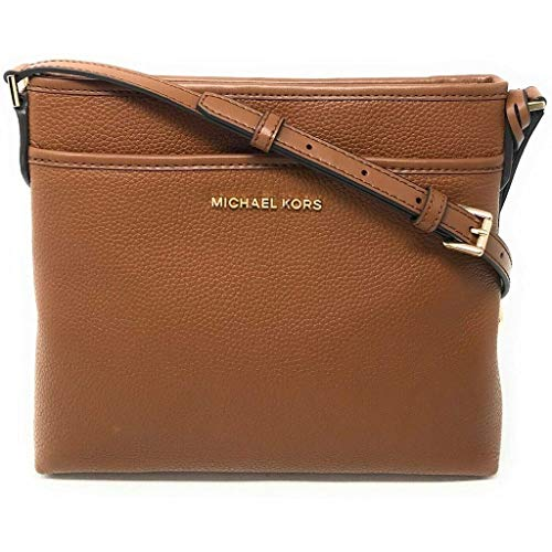 Made of Leather; Top zip closure; 1 slip pocket at front 1 interior slip pocket; 23 inches Long adjustable strap Gold hardware Measurements: Length: 10.75 x Height: 8.25 x Width: 2.75 Inches Comes with original tags