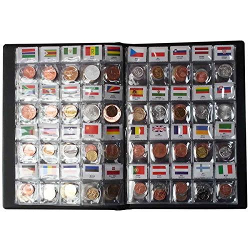 Suser Bellor 120 Countries Coins Collection Set Fine Coins 100% Original Genuine World Coin with Leather Collecting…
