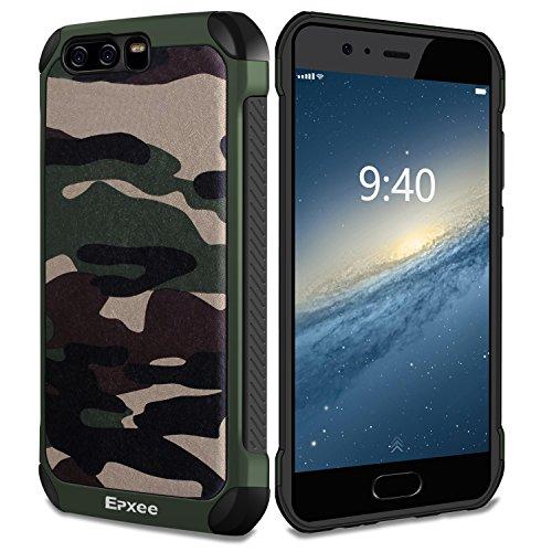 Epxee Hülle für Huawei P10, Silikon Handyhülle Schwarz TPU Bumper Cover Schutzhülle für Huawei P10 Case - Camouflage