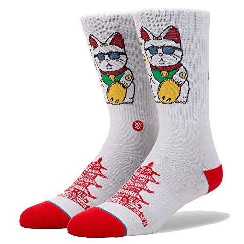 Stance Lot de 4 paires de chaussettes pour homme L Blanc