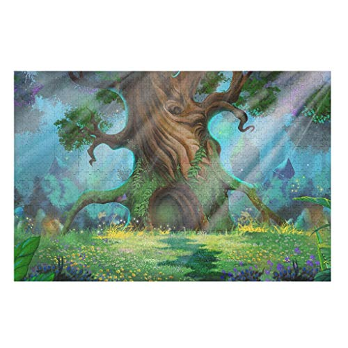 Rainforest forest Wooden Jigsaw Puzzles For Adults And Kids Preschool Educational Learning Toys Set For Boys And Girls Family Game white 1000pieces