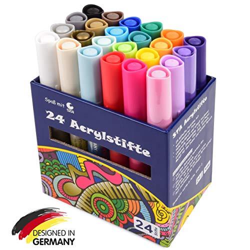 12 Farben Öl-basierte Farbe Filzstift permanent Stift Malerei Zeichnung