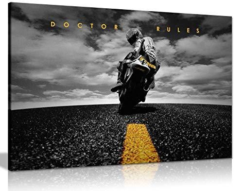 Valentino Rossi Leinwandkopie, Yamaha MotoGP, großes Poster, 76,2 x 50,8 cm, A1