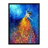 Leinwand Bild,Schöne Verträumte Tänzer, Poster Und