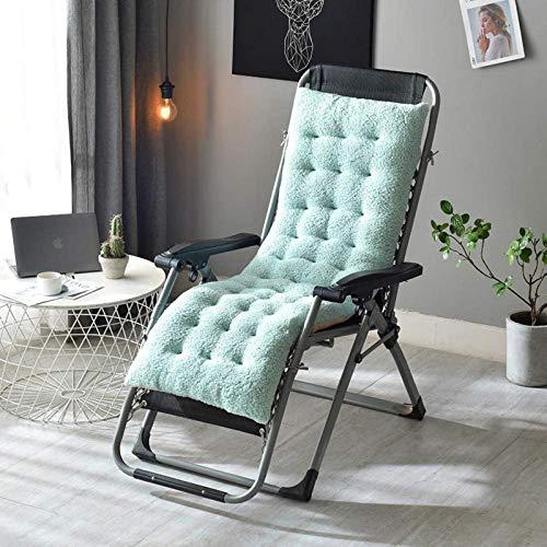 HZWLF Cojín para tumbonas Cojines para sillas de jardín El cojín reclinable se Puede Utilizar para Exteriores/Viajes/Mecedora de ratán de bambú/sillón reclinable Antideslizante Doble 130 * 50 * 12Cm