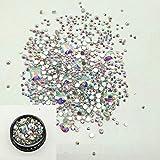 Uñas Postizas Puntas De Uñas Cristales De Pedrería De Uñas Para Decoraciones De Arte De Uñas Piedras Preciosas Planas Pegamento 3D En Pedrería Para Uñas Estilo De Diseño 4