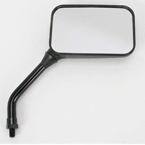 Emgo GP Deluxe Mirror Set Rectangular 10mm Short Stem Black Universal