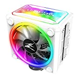 Zalman CNPS 16x, Real aRGB LED CPU Cooler with 4D Patented Corrugated Fin Design, Quiet 120mm RGB Fan, for Intel & AMD Ready (White))