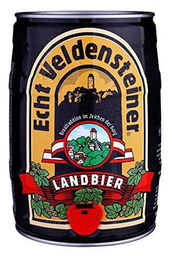 Veldensteiner Landbier 5 Liter Fass/Dose – Partyfass mit Zapfhahn – Internationales Bier nach deutschem Reinheitsgebot – Pfandfreies Bierfass