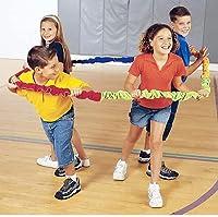 Yajun 伸縮性バンド弾性フリース協同組合ストレッチチームワークゲーム裏庭の活動友人、大人、子供のための家族の芝生のスポーツ,4 m (8 people)