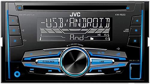 JVC KW-R520E - Receptor de CD (entrada frontal USB / AUX) negro