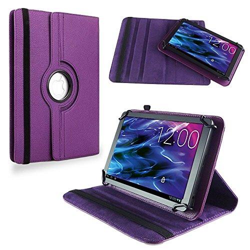 NAUC Medion Lifetab S10351 S10352 Tasche Hülle Tablet Schutzhülle Hülle Schutz Cover, Farben:Lila