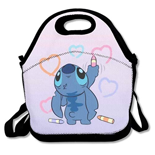 HASYH Custom Bento Lunch Box Stitch Love Meal Prep Containers for Adults and Kids