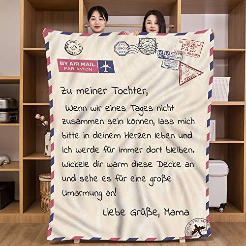 UFOORO Hug Blanket - Manta de franela para paciente, regalo personalizado, 150 x 180 cm, color blanco