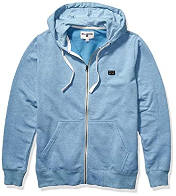 Billabong Men's All Day Zip Hdy Blue Large by Billabong