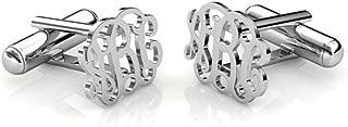 Personalized Wedding Cufflinks for Men 925 Sterling Silver Custom Monogram Initials