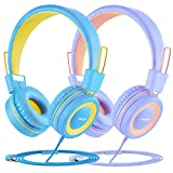 (2-Pack) Mpow Kids Headphones, 91dB with Volume Limiter & Hearing Protection, Light Weight