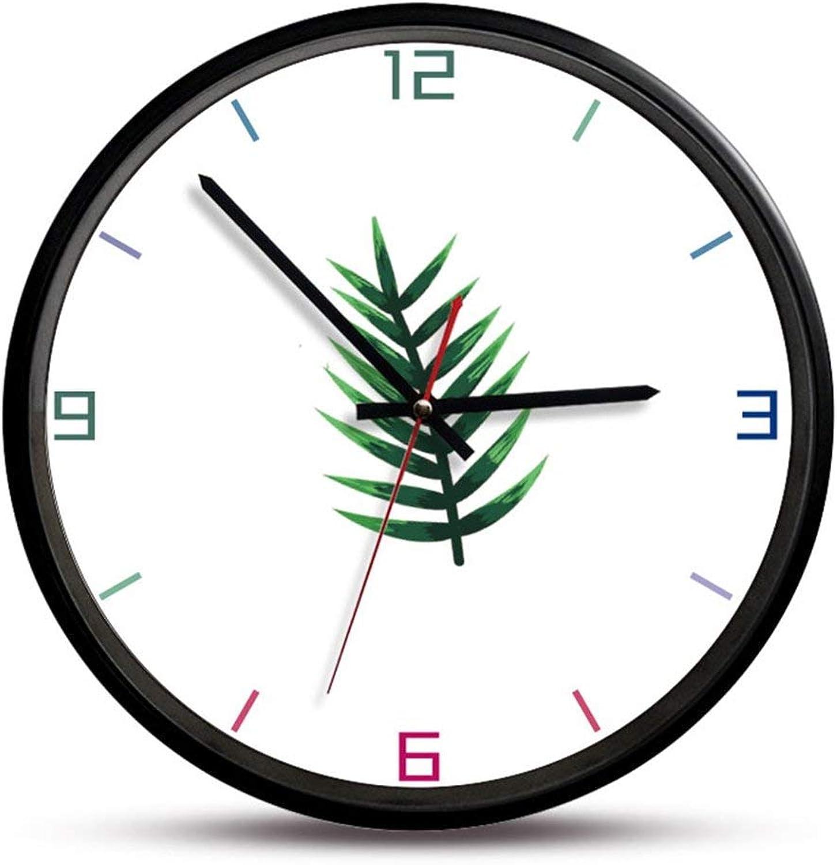 sin mínimo BAIF BAIF BAIF Relojes de Parojo Marco de Madera Número de tictac Reloj de Parojo de Cuarzo 12 Pulgadas Diseño Moderno de Cuarzo Decorativos para Interiores cocinas, B  clásico atemporal