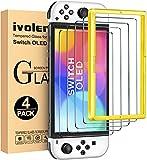 iVoler 4 Pezzi Pellicola Vetro Temperato Compatibile con Nintendo Switch OLED Modello 7 Pollici Modello 2021, Strumento di Installazione Inc …