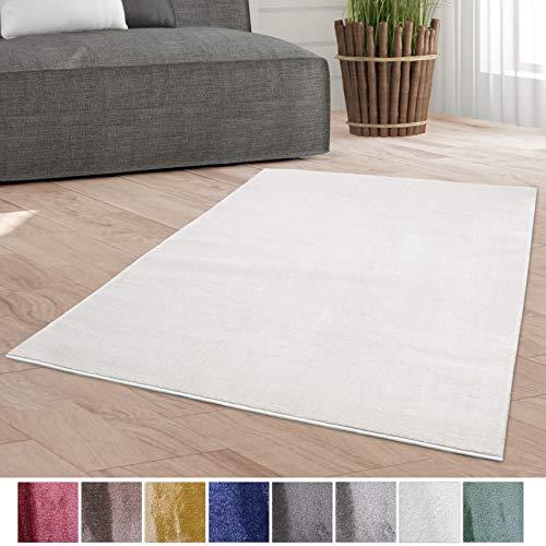 Taracarpet Weicher Kurzflor Designer Teppich modern für Wohnzimmer, Schlafzimmer, Kinderzimmer und...
