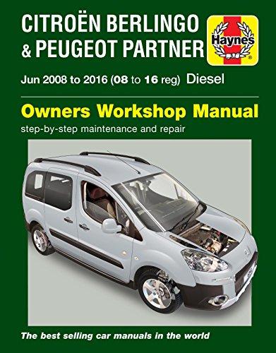 Price comparison product image Haynes Manual Citroen Berlingo B9 Multispace & Van & Peugeot Partner Diesel 2008-2016