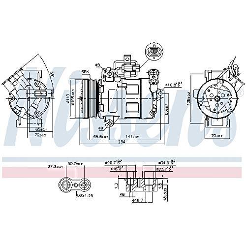 Nissens 89216 Compressore per Climatizzatore