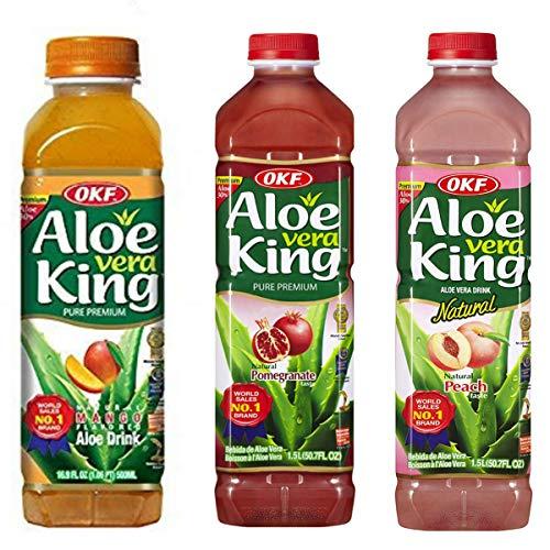 OKF Aloe Vera King - 1.5Lt - Pack-12 (Mango, Pomegranate, Peach)