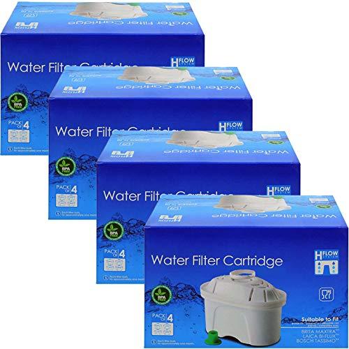 Spares2go - Cartucho de filtro de agua compatible con jarra Brita Aluna Elemaris Fun Marella Maxtra Style XL (16 unidades)