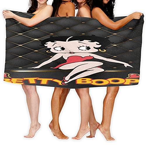 Large Puzzle Betty Boop - Toalla (tacto supersuave, 100% algodón, ideal para el hogar, playa y piscina, 80 x 130 cm), multicolor