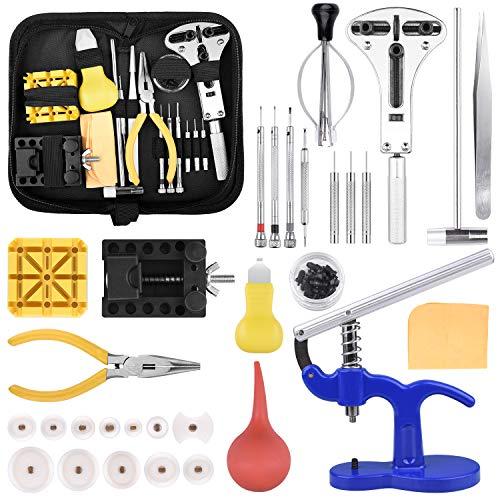 STARTOGOO Kit de Reparación de Relojes, Profesional de Herramientas Reloj Correa de Reloj de Pasador Kit de Reparación