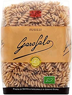 Garofalo Organic Whole Wheat Fusilli Dry Pasta - 500g (1.1lbs)