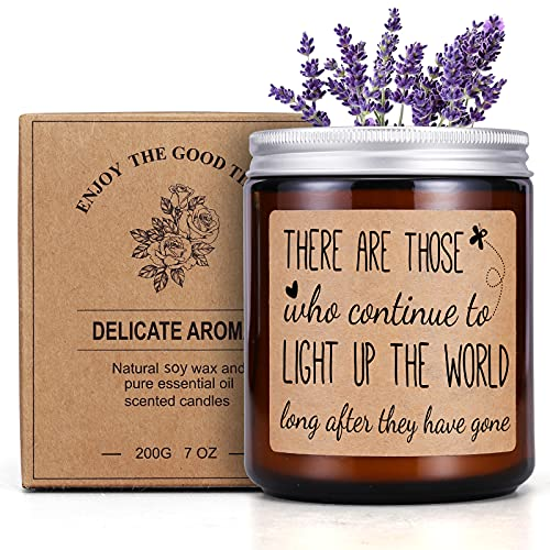 UOKPT Scented Candles Lavender Memorial Gifts for Loss of Loved One Sympathy Gift Condolence Remembrance for Deceased Bereavement Keepsake