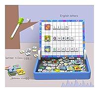 228個の磁気ブロックセット、木製のパズルゲーム、文字パターンタングラム早期教育玩具子供の幼児のための色の並べ替えスタッキングゲーム創造学習チャレンジIQ玩具ギフト YANGBM