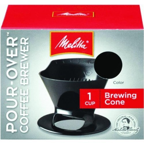 Melitta%2b64007%2b1%2bCup%2bBlack%2bPour-Over%2bCoffee%2bBrew%2bCone