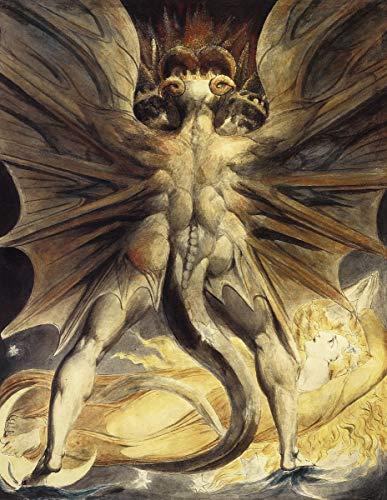 Berkin Arts William Blake Giclee Kunstdruckpapier Kunstdruck Kunstwerke Gemälde Reproduktion Poster Drucken(Der große rote Drache und die Frau in Sun gekleidet)