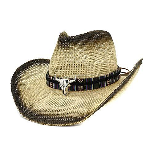 Apragaz Sombrero De Vaquero De Paja De Los Hombres De Moda Hechos A Ma